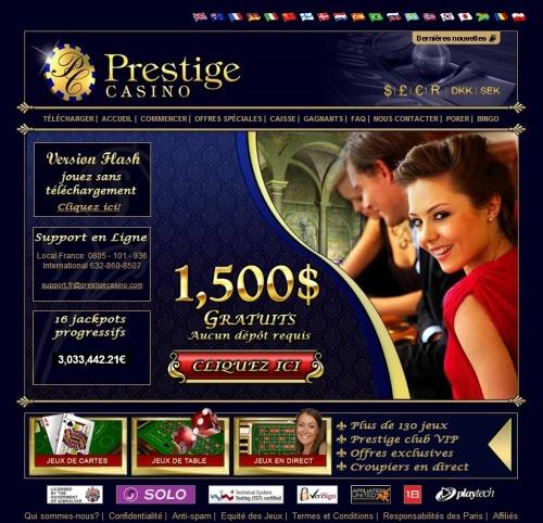 prestige казино 750 фунтов