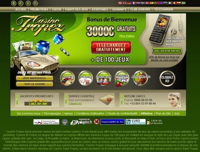Casino tropez bonus senza deposito